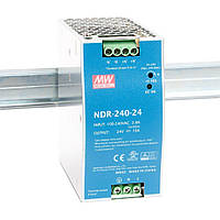 "Блок питания импульсный Mean Well на DIN-рейку 240W 24V (IP20, 10A) Series ""NDR"""