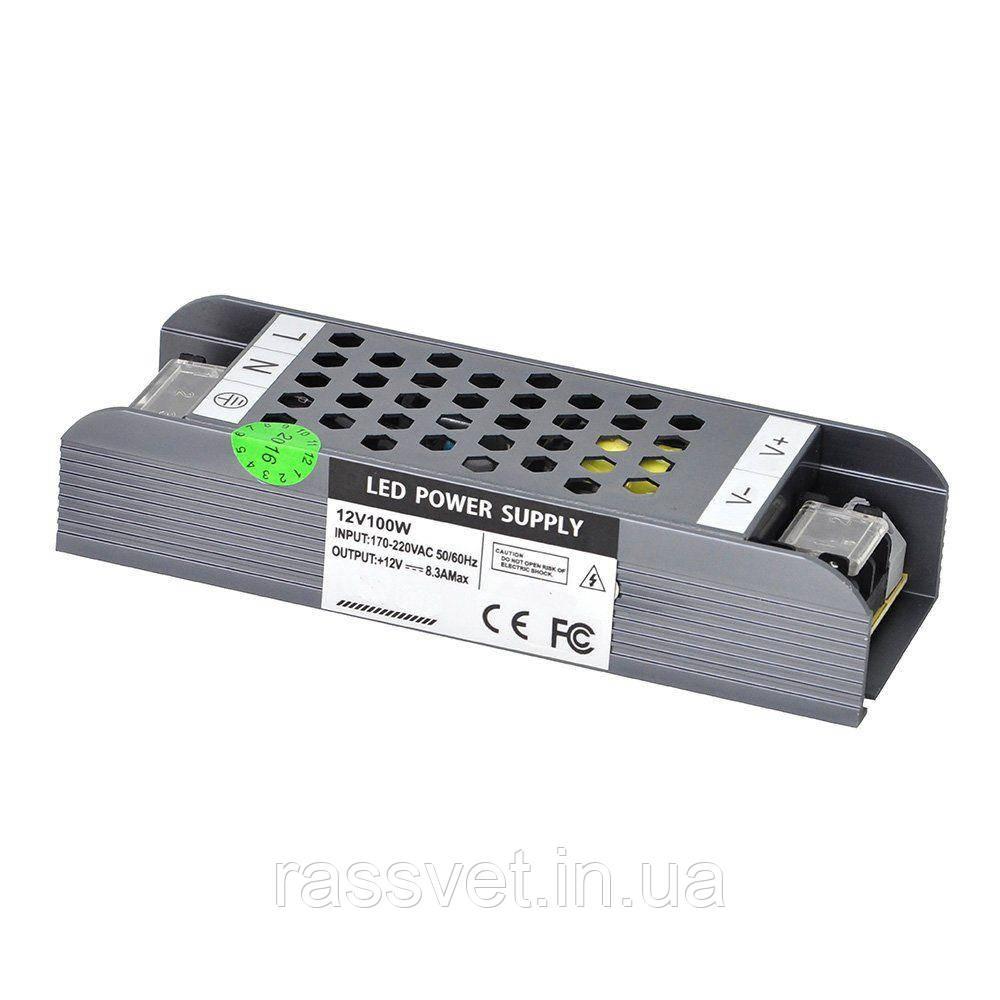 """Блок питания импульсный  Slim 100W 12V (IP20, 8,3A) Series """"SP"""""""
