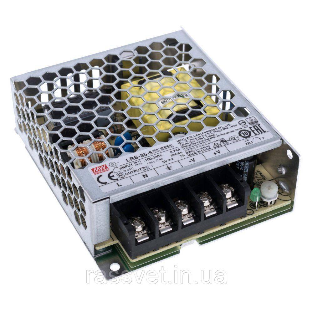 """Блок питания импульсный Mean Well 35W 5V (IP20, 7A) Series """"LRS"""""""