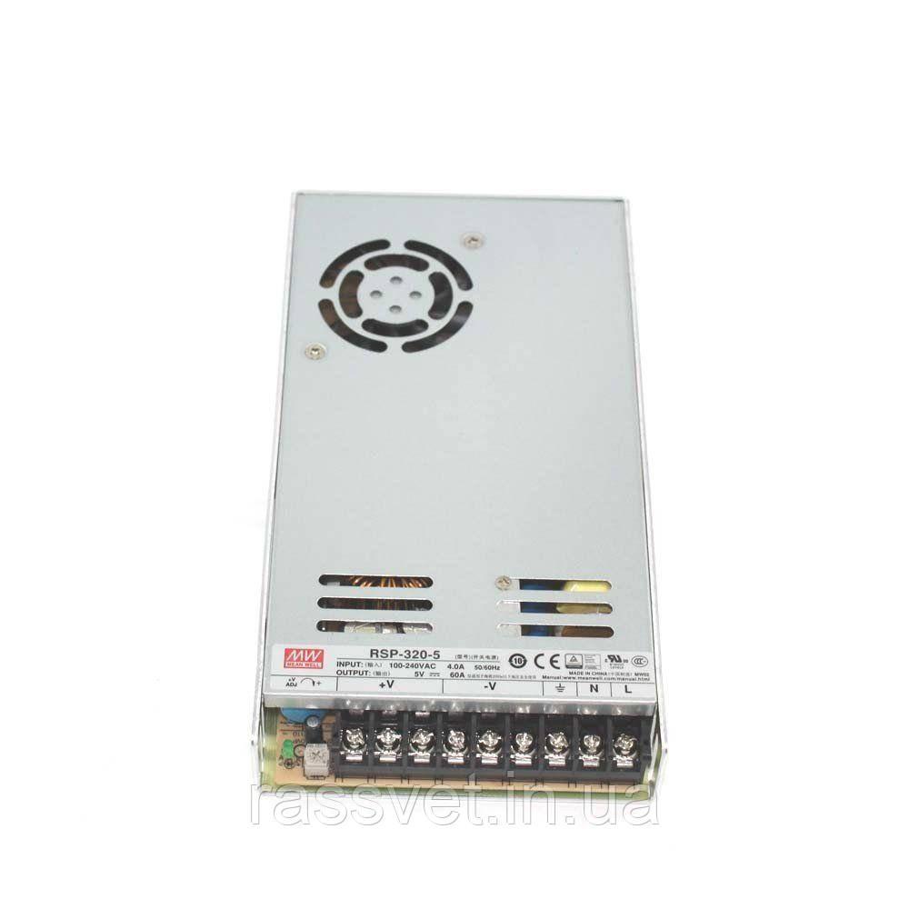 "Блок питания импульсный Mean Well 300W 5V (IP20, 60A) Series ""RSP"""