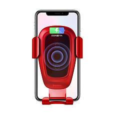 Автодержатель зарядное устройство Baseus Metal Gravity Car Mount (Air Outlet Version) 1.7A QC3.0 красный (17217), фото 3