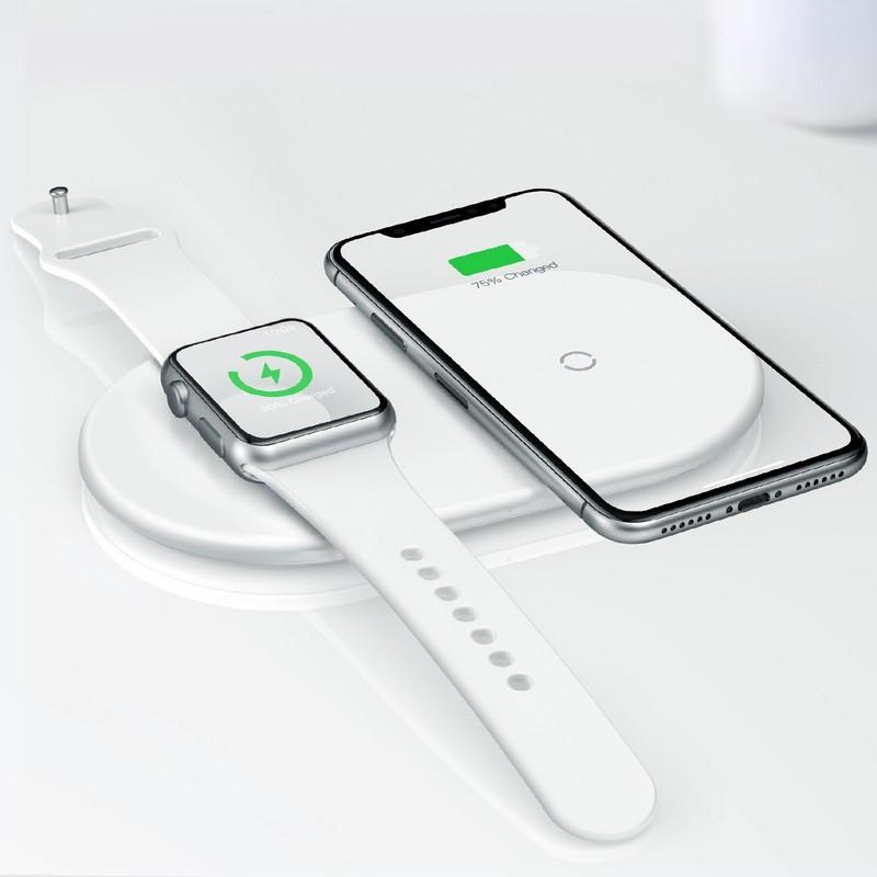 Беспроводная зарядка 7.5-10 W Baseus iPhone (Android) и Apple Watch Type-C (WX2IN1P20-02)