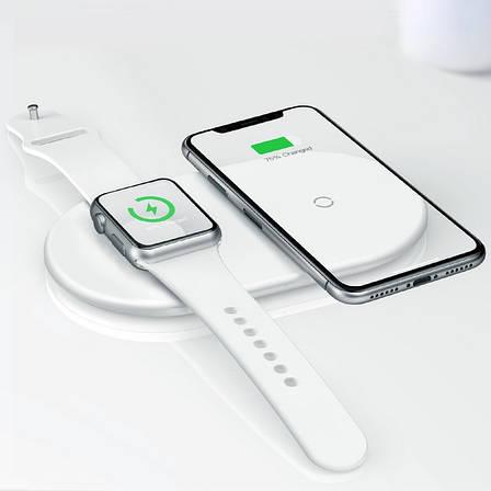 Беспроводная зарядка 7.5-10 W Baseus iPhone (Android) и Apple Watch Type-C (WX2IN1P20-02), фото 2