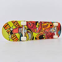 Скейтборд в зборі (роликова дошка) (колесо-PU, р-р деки 78х20х1,2см, АВЕС-7, кольори в асортименті), фото 1