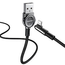 Кабель синхронизации Baseus Exciting Lightning Cable 2.4A 1м black (CALCJ-A01), фото 3
