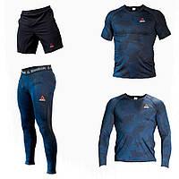 Компрессионная Одежда Одежда для спортзала  4в1 Мужские лосины для спорта Компрессионная футболка #5