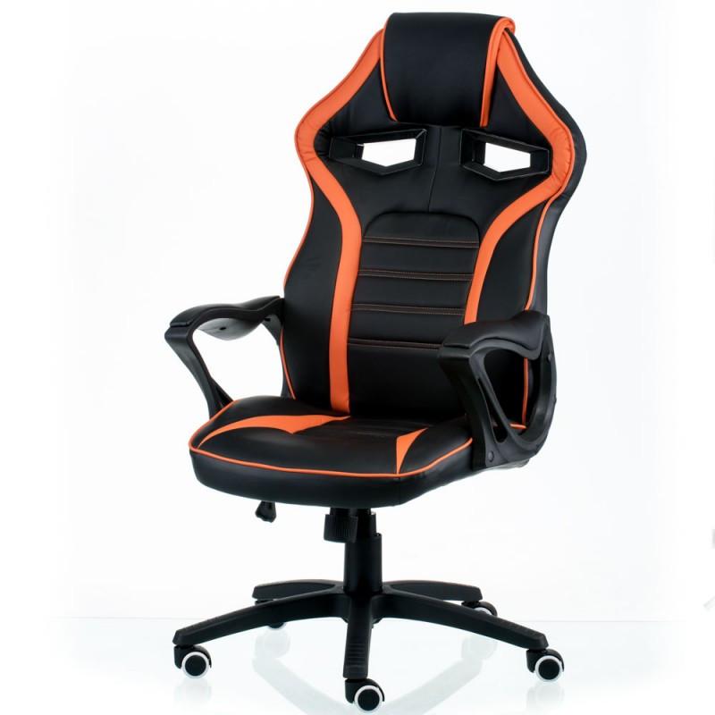Крісло офісне Special4You Game black/orange (E5395)