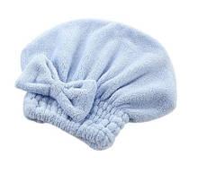 Тюрбан для волос голубой из микроволокна - размер универсальный, (подходит для детей и взрослых)