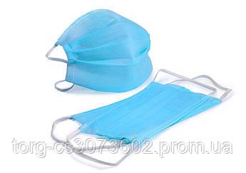 Маска защитная двухслойная (упаковка 12 шт)