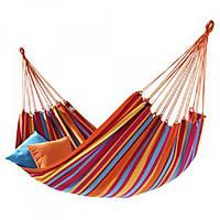 Подвесной гамак без перекладины из толстой ткани Rino 200х80см. 170кг. в чехле Разноцветный