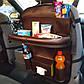 Органайзер со столиком на спинку сиденья в автомобиль, Коричневый, фото 4