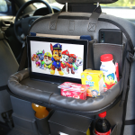 Органайзер со столиком на спинку сиденья в автомобиль, Тёмно-Серый