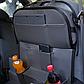 Органайзер со столиком на спинку сиденья в автомобиль, Тёмно-Серый, фото 3
