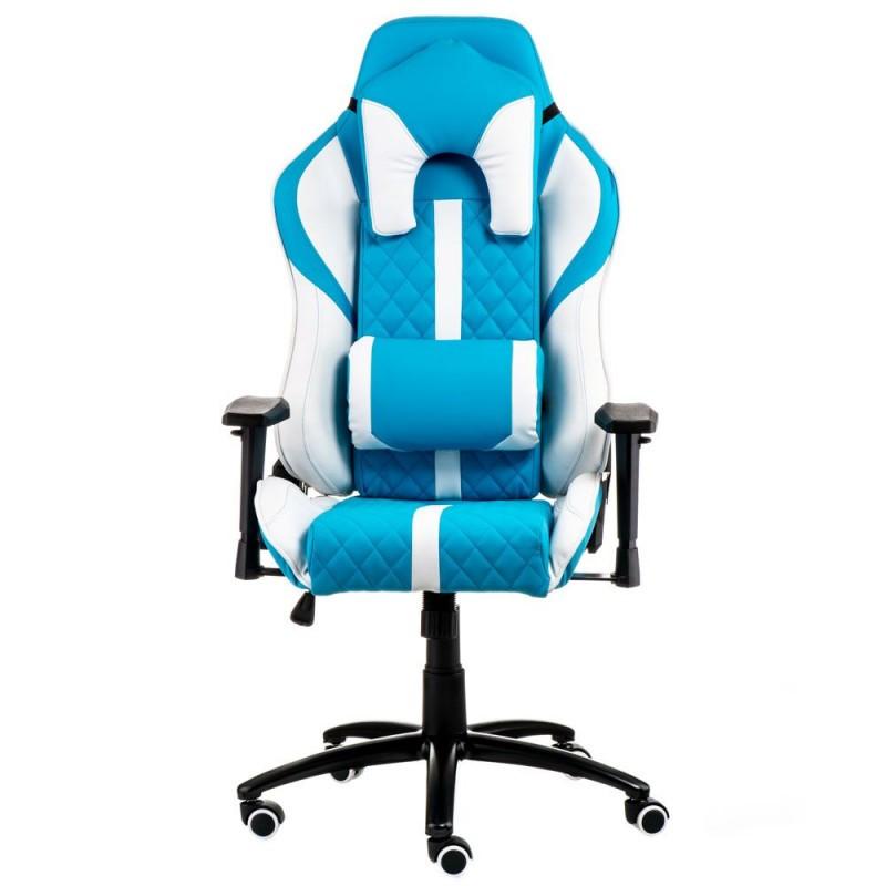 Крісло офісне Special4You ExtremeRace light blue/white (E6064)