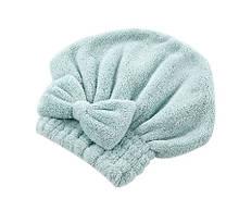 Тюрбан для волос ментоловый из микроволокна - размер универсальный, (подходит для детей и взрослых)