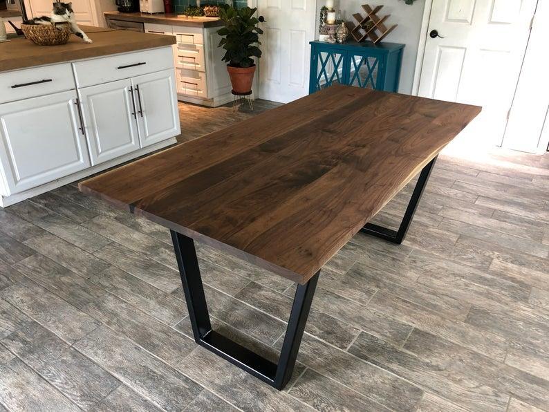 """Кухонный деревянный стол """"Эмбер"""" из массива в стиле LOFT"""