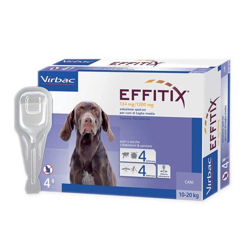 Капли Effitix (от блох, клещей, насекомых) весом 10-20кг