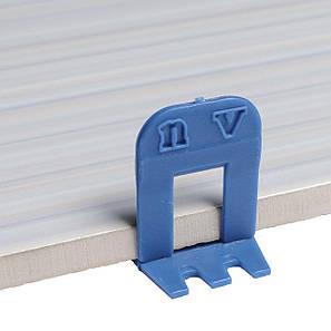 СВП система выравнивания плитки, Зажимы (основы) СВП noVa 1мм (500 шт), фото 2