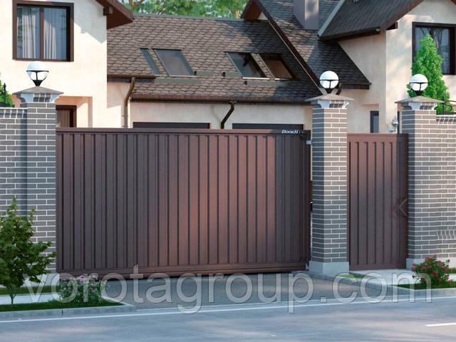 зона применения автоматики для откатных ворот doorhan