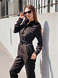 Жіночий стильний брючний комбінезон з накладними кишенями (в кольорах), фото 3