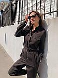 Жіночий стильний брючний комбінезон з накладними кишенями (в кольорах), фото 4