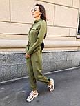 Жіночий стильний брючний комбінезон з накладними кишенями (в кольорах), фото 6