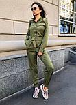 Жіночий стильний брючний комбінезон з накладними кишенями (в кольорах), фото 2