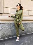 Жіночий стильний брючний комбінезон з накладними кишенями (в кольорах), фото 8