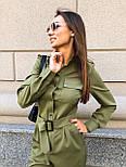 Жіночий стильний брючний комбінезон з накладними кишенями (в кольорах), фото 9