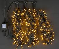 """Гирлянда новогодняя уличная GNT """"Луч 3"""" 600LED 3*20м желтая (черн. кабель ПВХ), фото 1"""