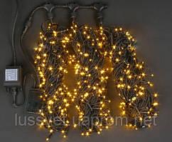 """Гирлянда новогодняя уличная GNT """"Луч 3"""" 600LED 3*20м желтая (черн. кабель ПВХ)"""