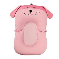 Складаний нековзний матрацик у ванночку SUNROZ Dog Shape Baby Bath Mat для купання дитини Рожевий (SUN6727)