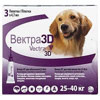 Краплі Vectra 3D (від бліх, кліщів і комах) для собак вагою 25-40кг