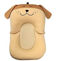 Складаний нековзний матрацик у ванночку SUNROZ Dog Shape Baby Bath Mat для купання дитини Коричневий (SUN6728)