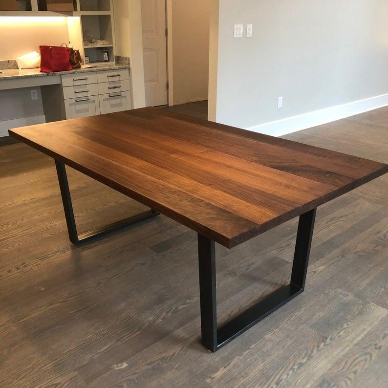 """Дерев'яний кухонний стіл """"Солід"""" з масиву ясена в стилі LOFT"""
