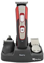 Бритва, машинка для стрижки Geemy GM592 10 в 1 Red (4340)