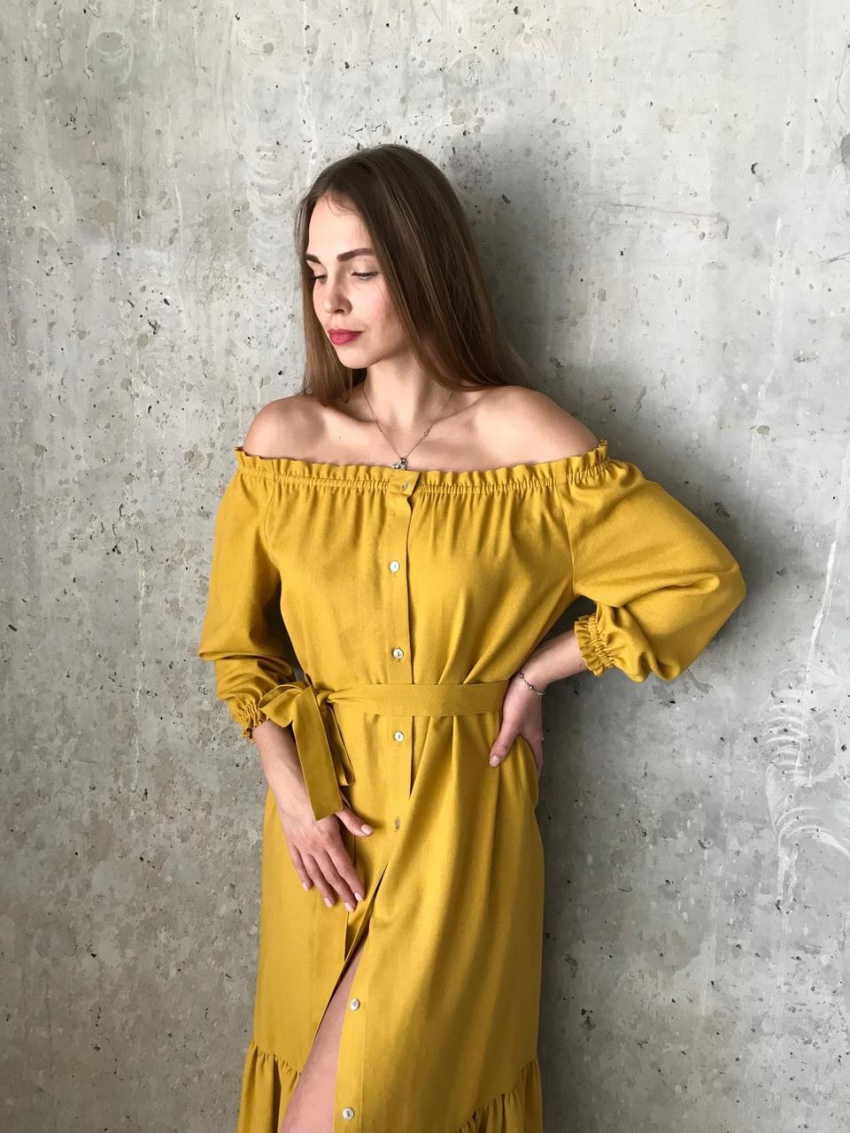 Платье женское лен XS-M