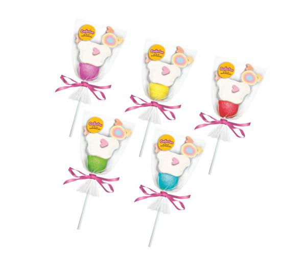"""Набор зефира жевательного """"Confectum Marshmallow pops"""" в форме цыпленка"""