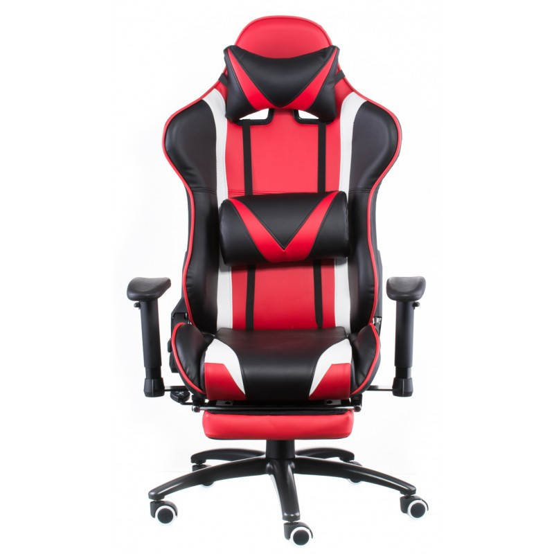 Крісло офісне Special4You ExtremeRace black/red with footrest (E4947)