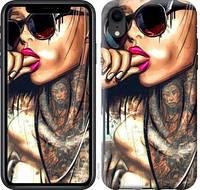 Чехол EndorPhone на iPhone XR Девушка в тату 4001c-1560, КОД: 1020817