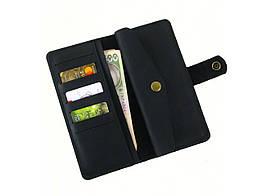 Чоловічий шкіряний гаманець GS чорний