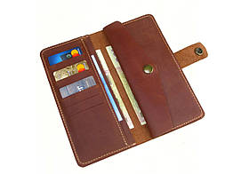 Жіночий шкіряний гаманець GS рудий