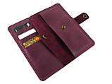 Женский кожаный кошелек GS бордовый, фото 2