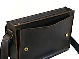 Мужская кожаная сумка для документов А4 GS коричнева, фото 2