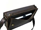 Мужская кожаная сумка для документов А4 GS коричнева, фото 3