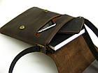 Мужская сумка планшет GS кожаная коричневая, фото 4