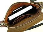 Мужская сумка планшет GS кожаная коричневая, фото 5