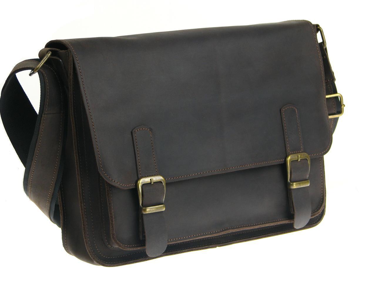 Мужская кожаная сумка для документов А4 GS коричневая