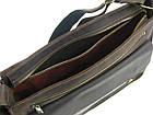 Мужская кожаная сумка для документов А4 GS коричневая, фото 5