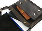 Мужская кожаная сумка для документов А4 GS коричневая, фото 6